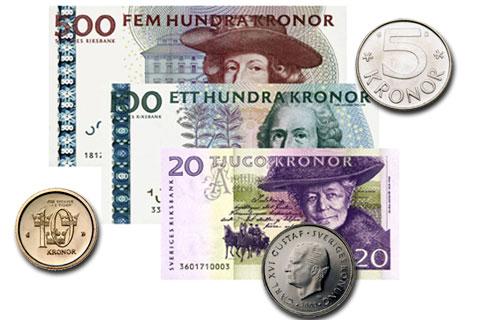 euro zu schwedische kronen